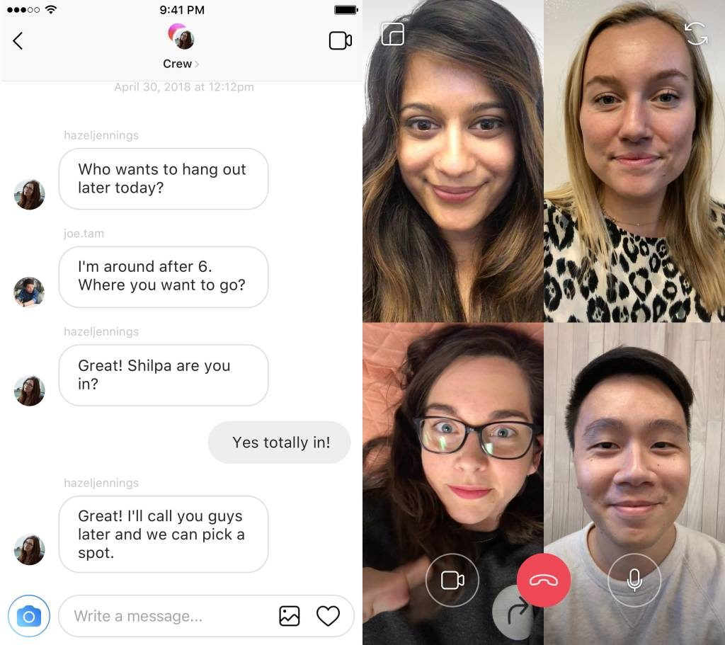 Instagram Videochat Direct
