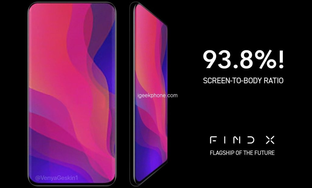 Smartphone Android Oppo Find X display