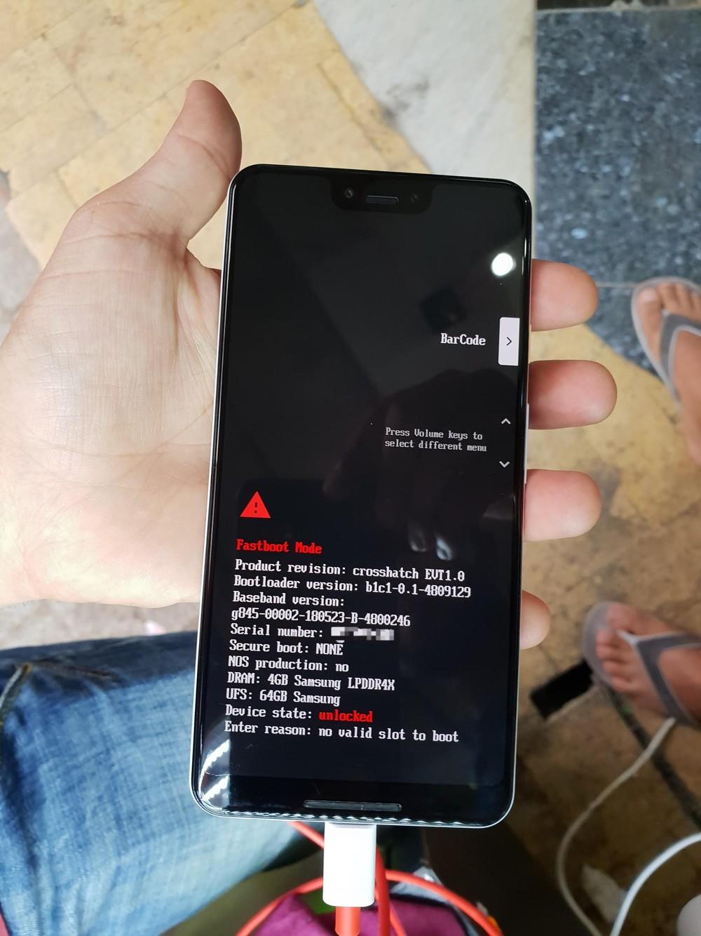 Google Pixel 3 XL Display Notch