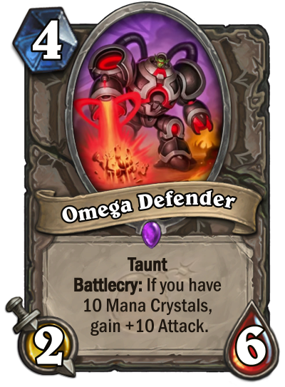Hearthstone Boomsday Project Omega Defender