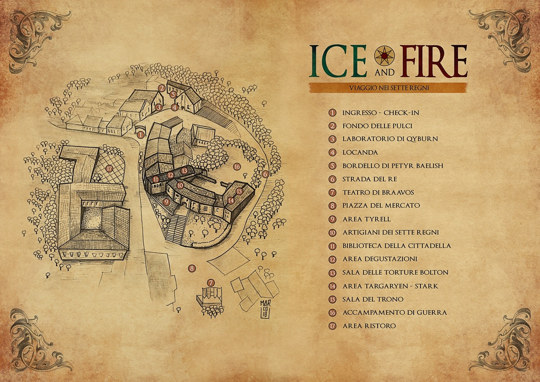 Ice and Fire: viaggio nei sette regni - mappa ufficiale dell'evento