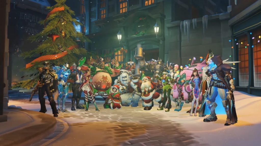 Overwatch winter wonderland heroes