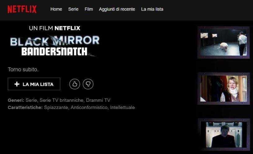 black mirror: bandersnatch episodio interattivo netflix film dicembre