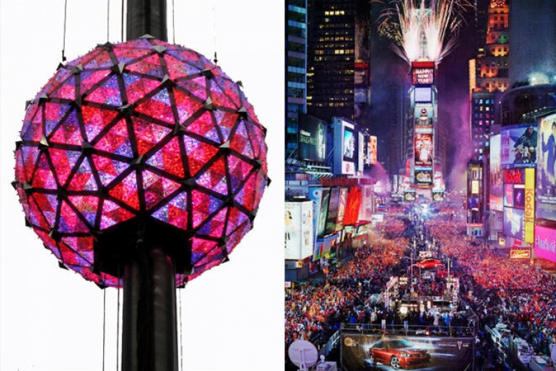 La sfera luminosa e Times Square a New York