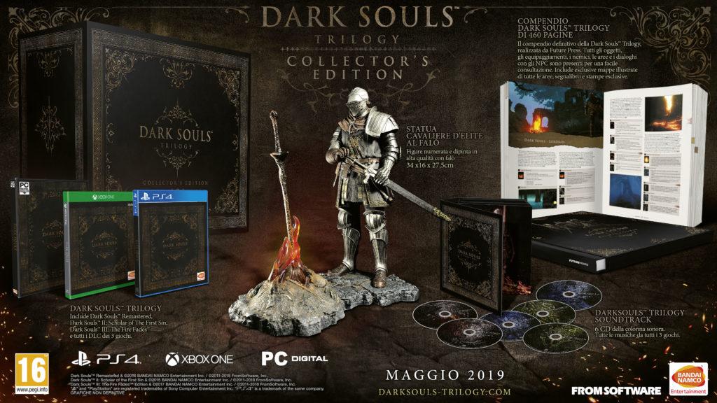 Dark Souls Trilogy Contenuti ps4 XboX One collector edition