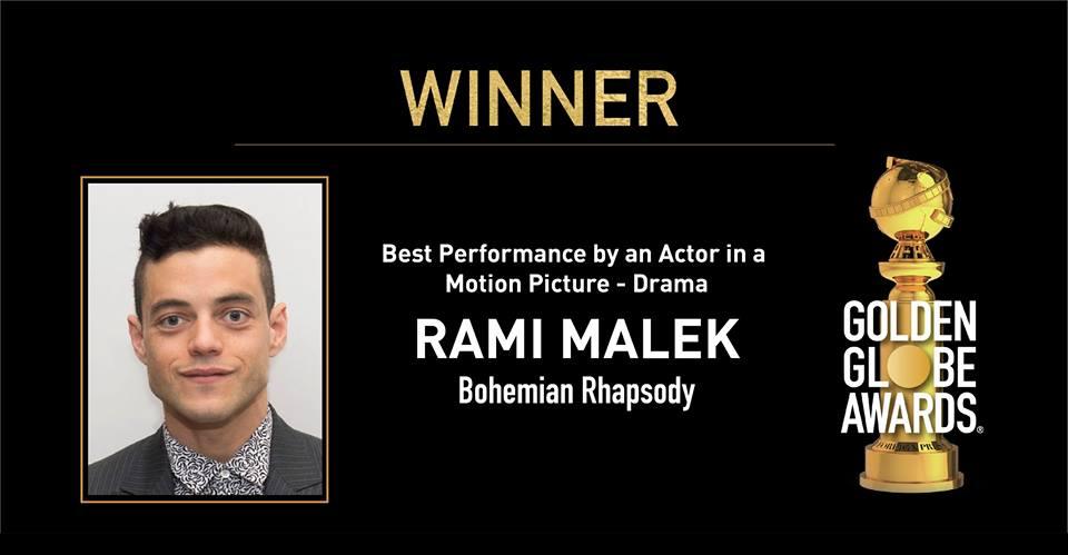 Golden Globes best actor attore rami malek