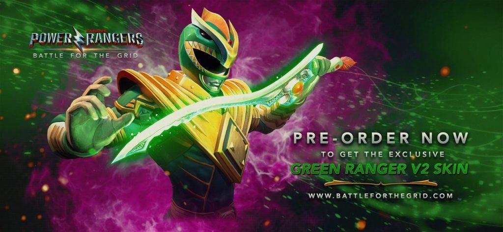 Power Rangers Battle for Grid Preorder green rangers skins