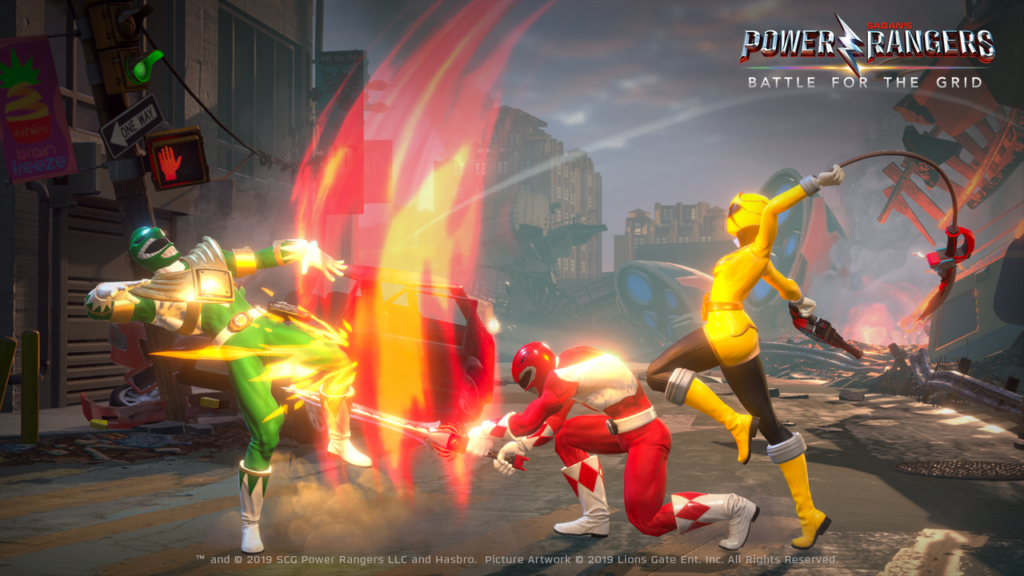 Power Rangers battle for the grid characters personaggi gameplay fighting game