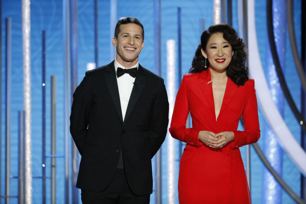 SandraOh Samberg Golden Globe