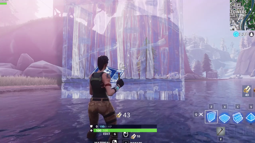 Fortnite costruzione delle mura dopo la patch di Epic Games