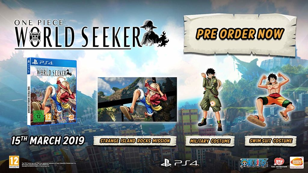 One Piece world seeker pre-order pc xbox ps4