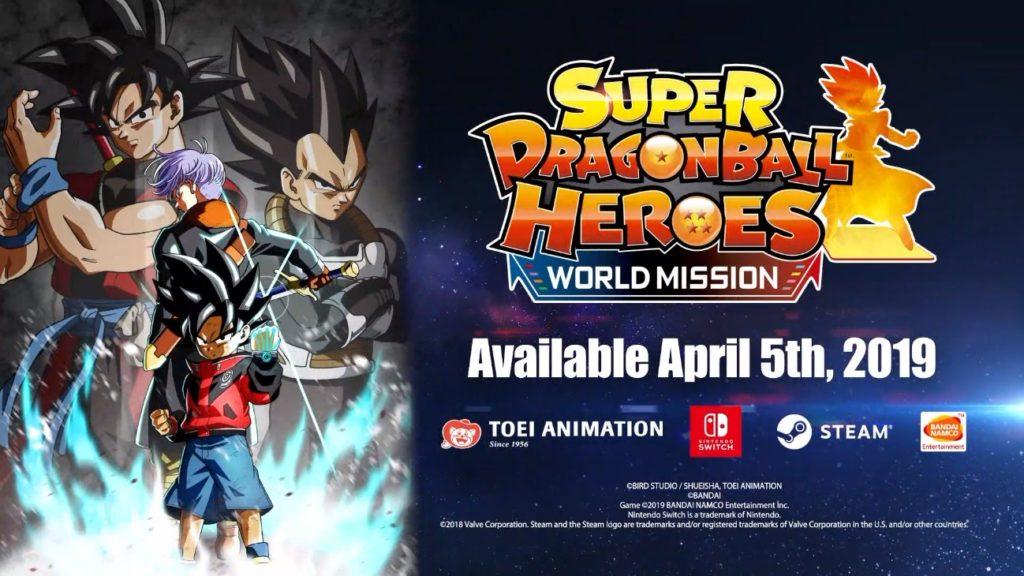 Super Dragon Ball Heroes trailer carte creazione switch