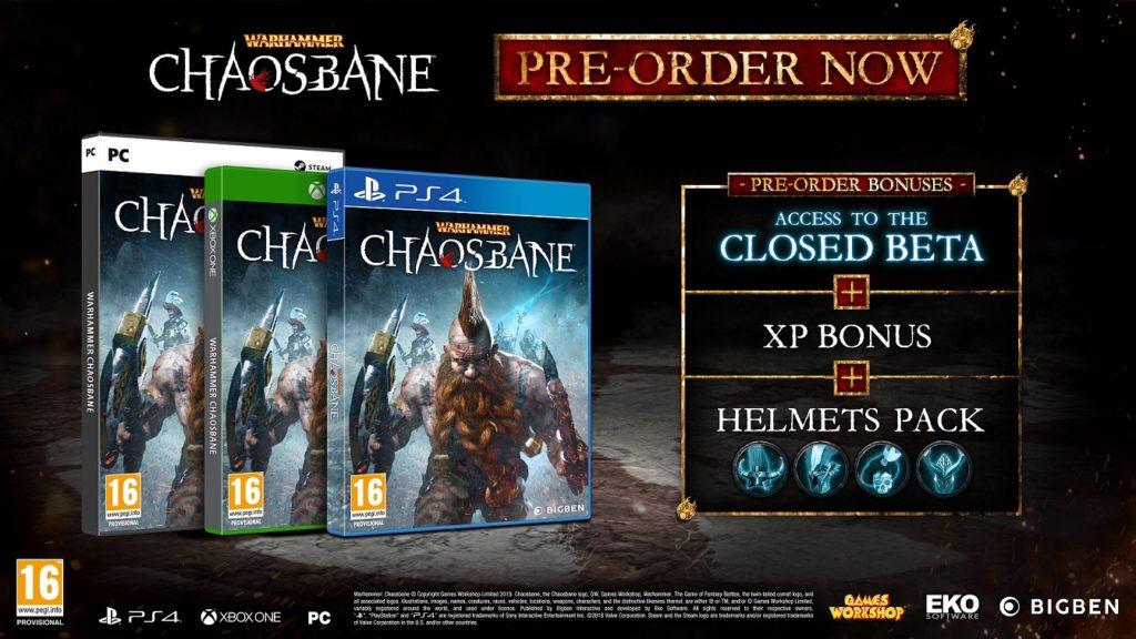 Warhammer: Chaosbane preorder PC ps4 xbox rpg
