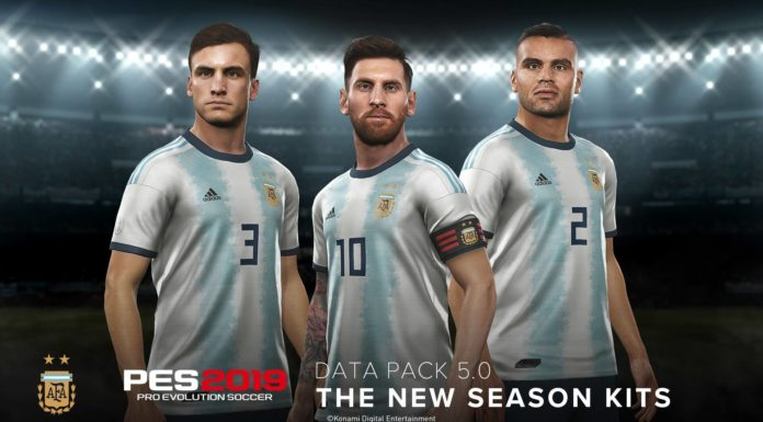 Argentina Kit PES 2019 Data Pack 5.0