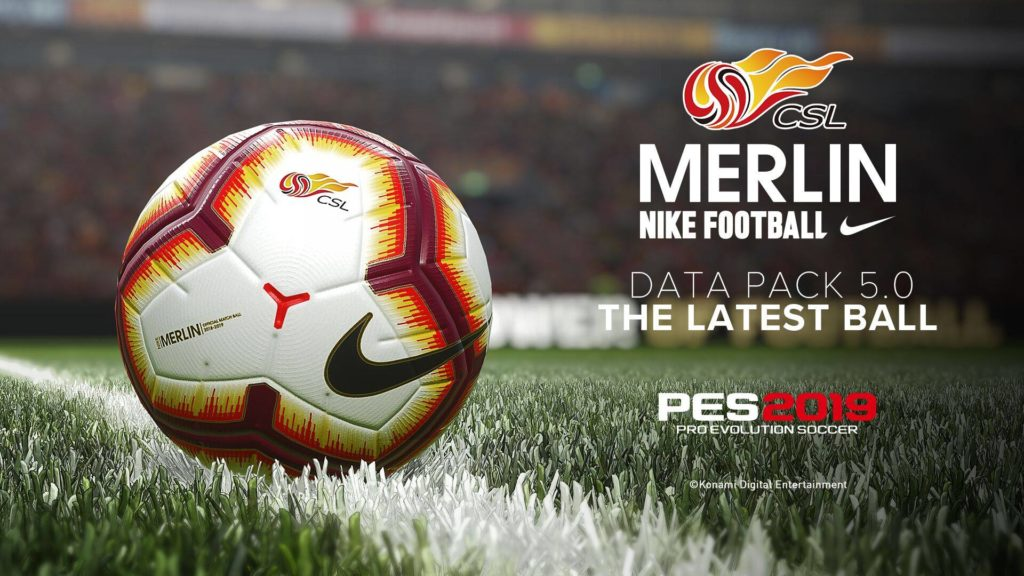 CSL Merlin Nike PES 2019 Data Pack 5.0