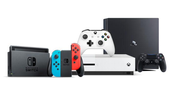 Nintendo Switch Xbox One Playstation 4