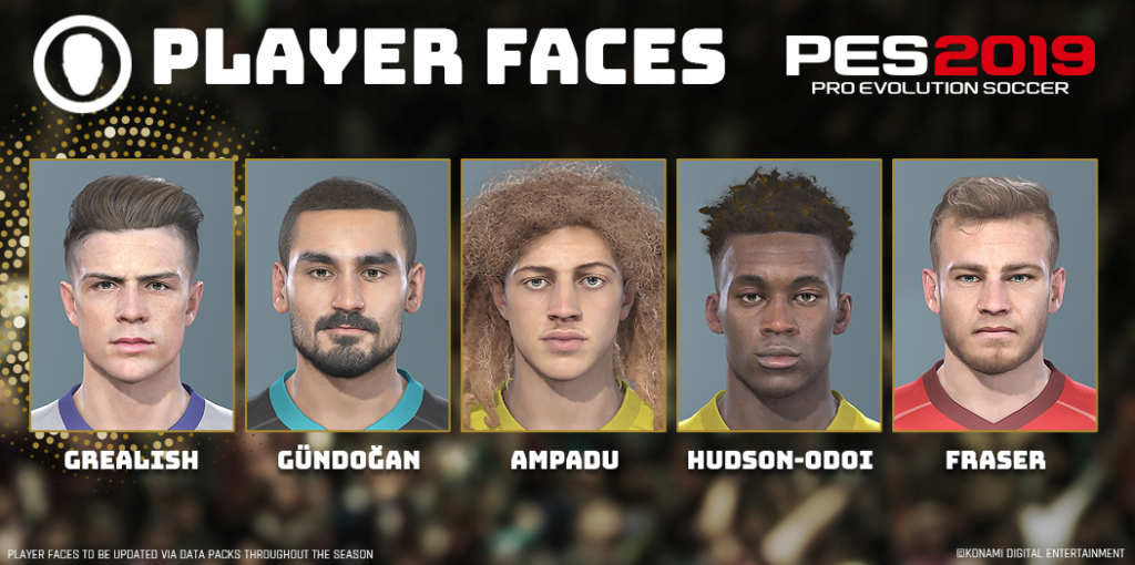 PES 2019 Premier Faces Data Pack 5.0