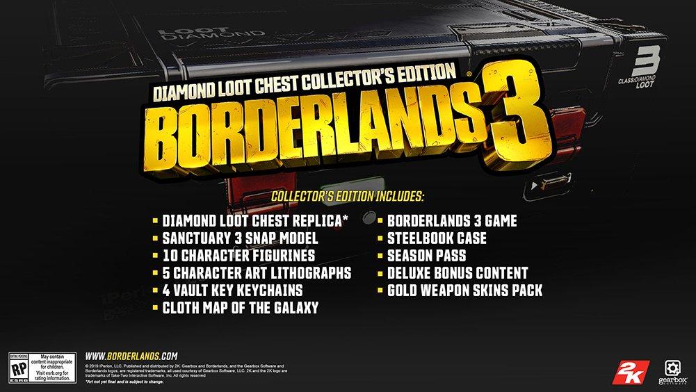 La Diamond Loot Chest Collector's Edition di Borderlands 3