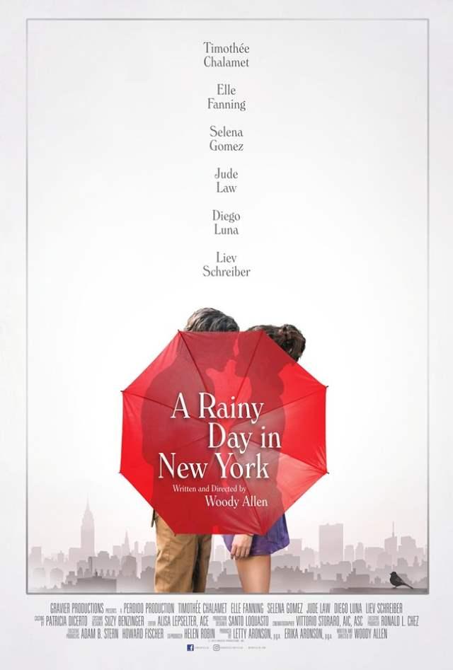 Elle Fanning Timothée Chalamet A Rainy Day in New York