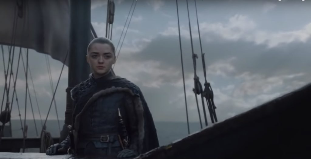 Game of Thrones 8x06 -  finale Arya Stark (Credits: HBO)