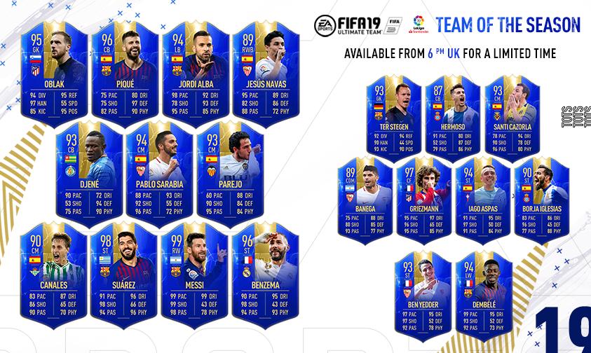 LaLiga TOTS FIFA Ultimate Team FIFA 19