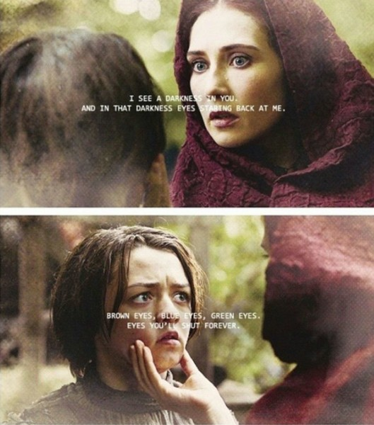 Game of Thrones (Il Trono di Spade) Arya e Melisandre