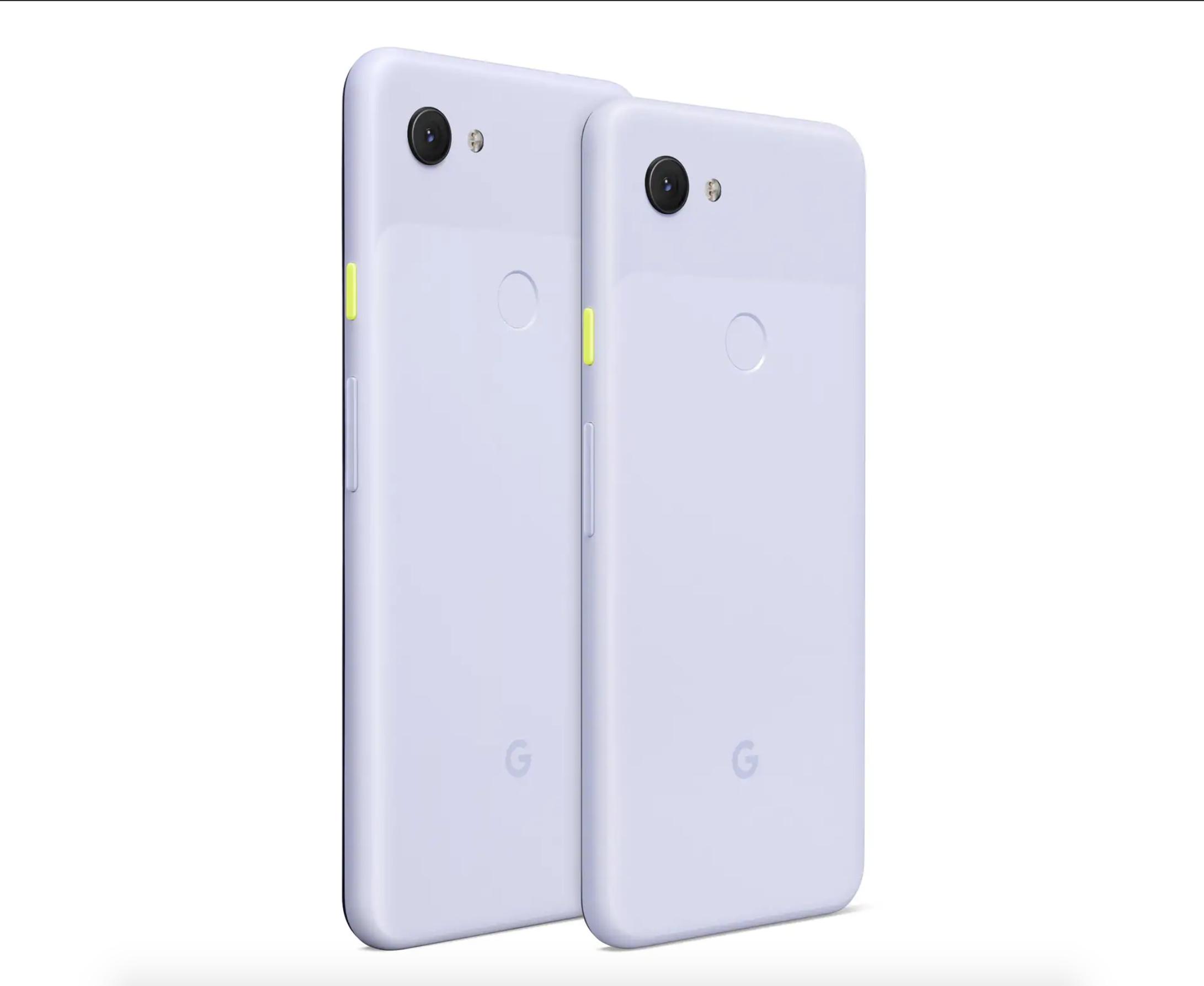 Google Pixel 3a e Google Pixel 3a XL Viola
