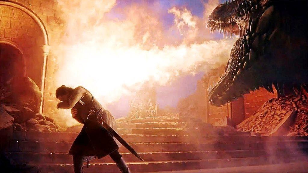 Drogon distrugge il Trono di Spade in Game of Thrones 8x06 (Credits: HBO)