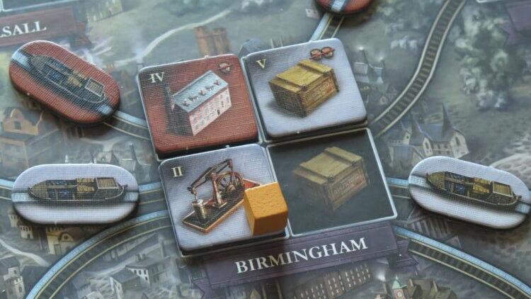 industrie e collegamenti a Birmingham, epoca de canali