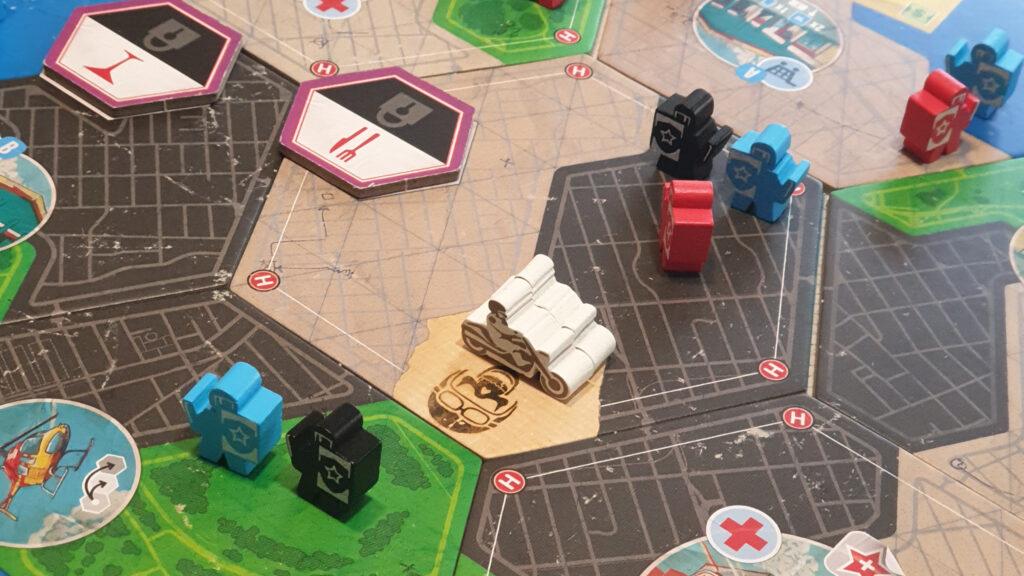 Escape Plan tabellone e componenti di gioco