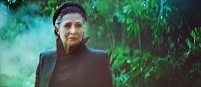 Carrie Fisher nel film Star Wars: Rise of Skywalker  - Leia