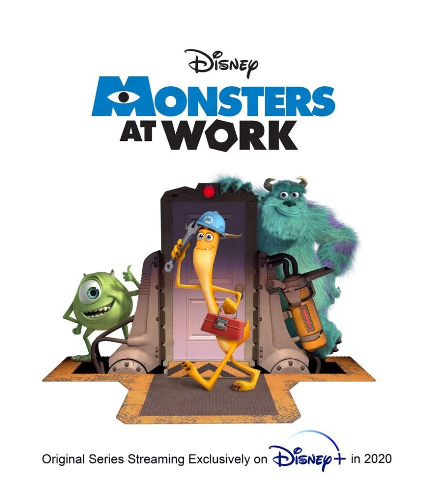 Il Poster Ufficiale di Monsters at Work, spin-off Disney+ di Monsters & Co.