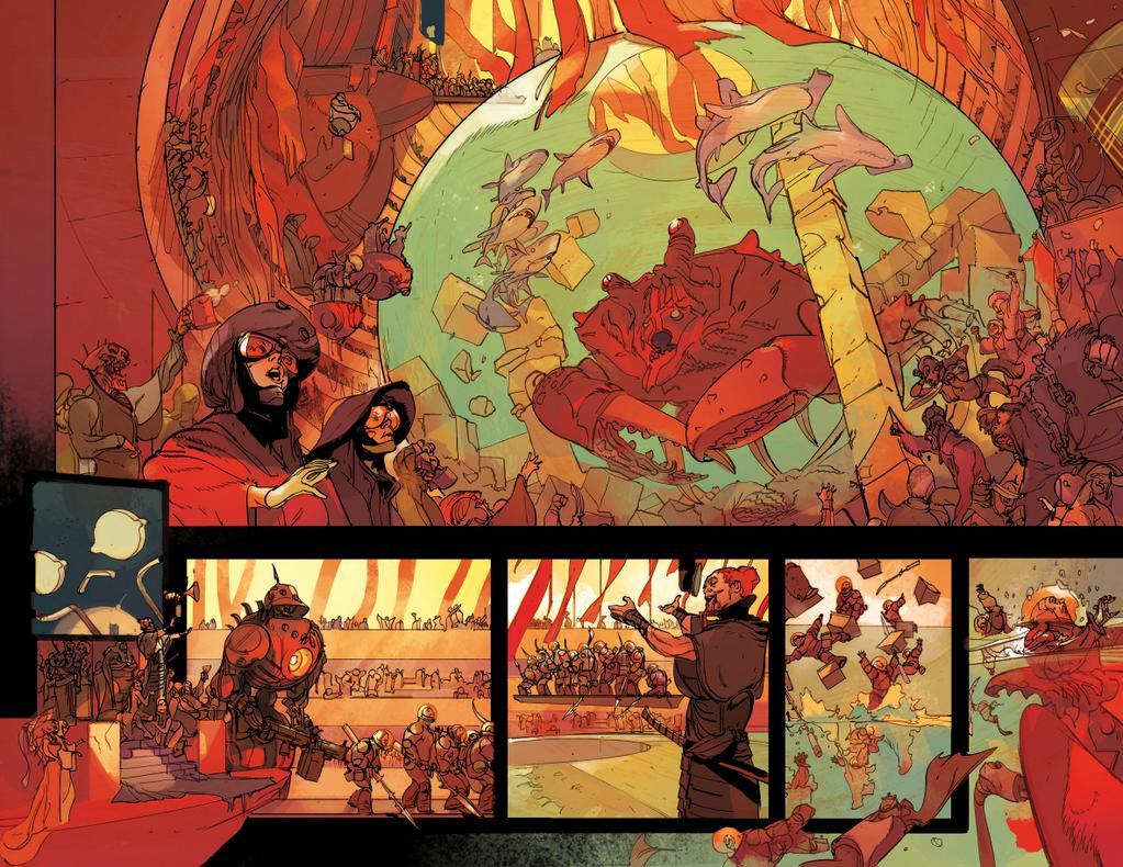 I pirati si divertono in una tavola del fumetto LOW.