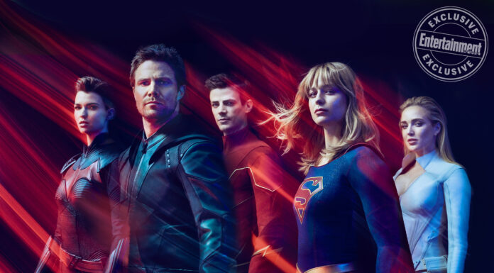 arrowverse video arrow addio san diego comic-con