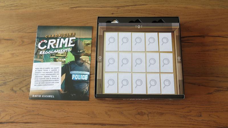 Chronicles of Crime interno scatola