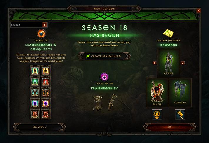 Diablo 3 stagione 18