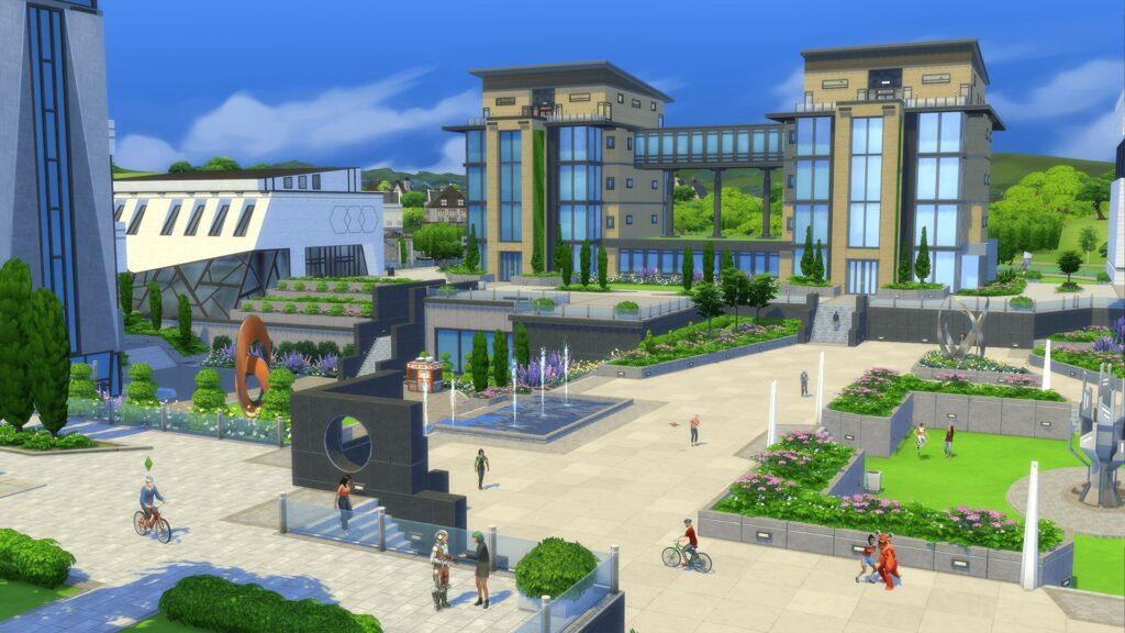 The Sims 4 Vita Universitaria campus