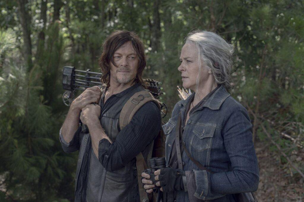 Melissa McBride (Carol Peletier), Norman Reedus (Daryl Dixon) - The Walking Dead 10x06 - Photo Credit: Jace Downs/AMC