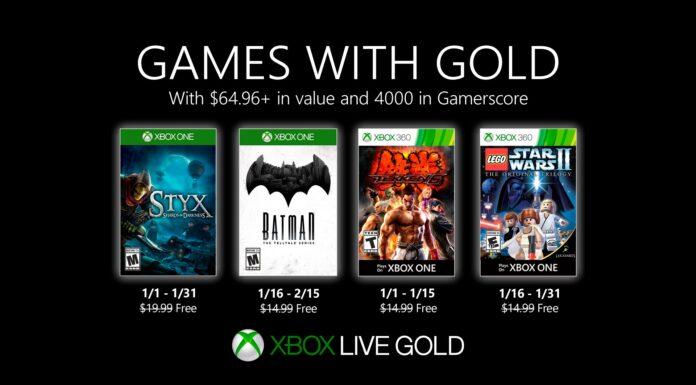 Games with Gold Gennaio 2020
