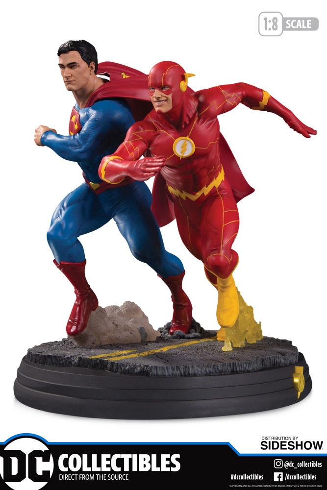 SUPERMAN VS. THE FLASH RACING BATTLE STATUE