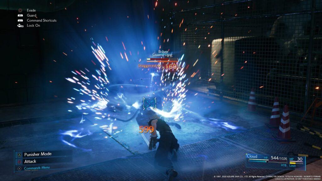 gameplay di final fantasy vii remake