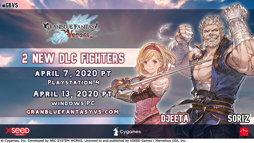 Granblue Fantasy Versus DLC Soriz e Djeeta.