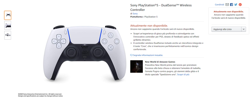 PlayStation 5 Amazon Prezzo