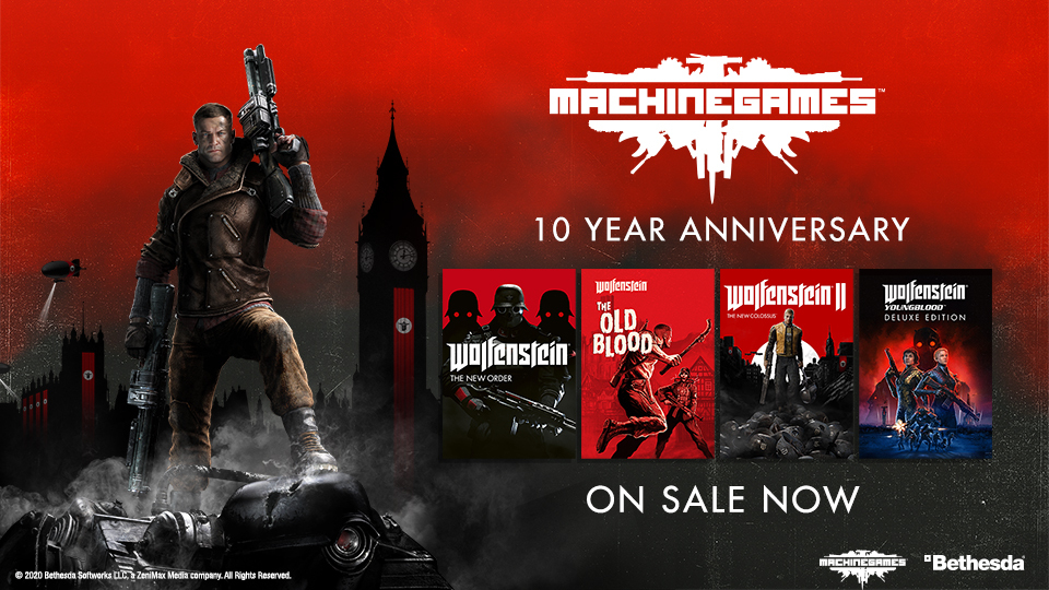 Bethesda MachineGames 10 Anni