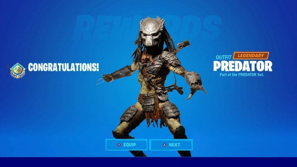 Fortnite sfide Predator