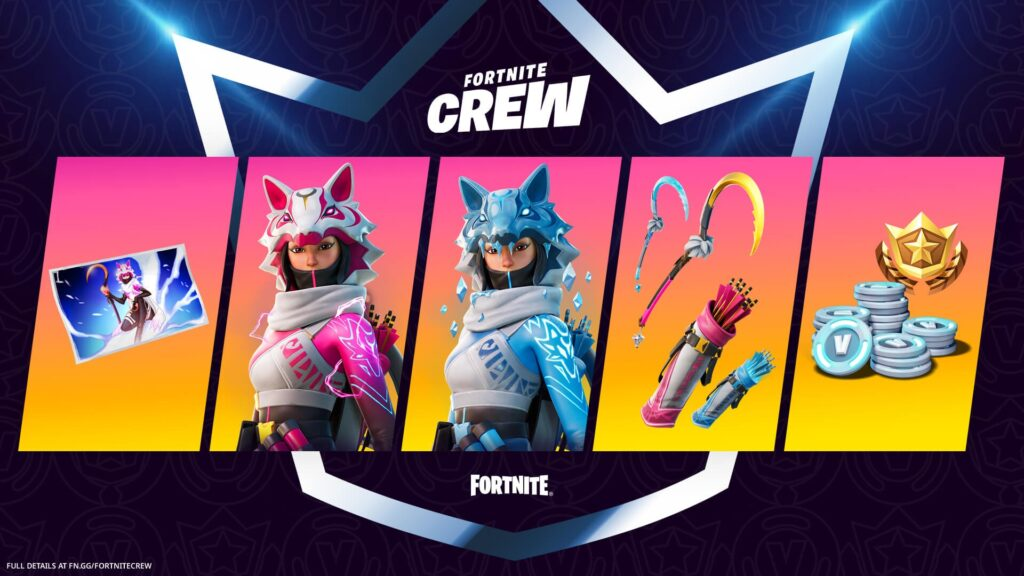 Fortnite Crew skin Vi del Clan della Volpe