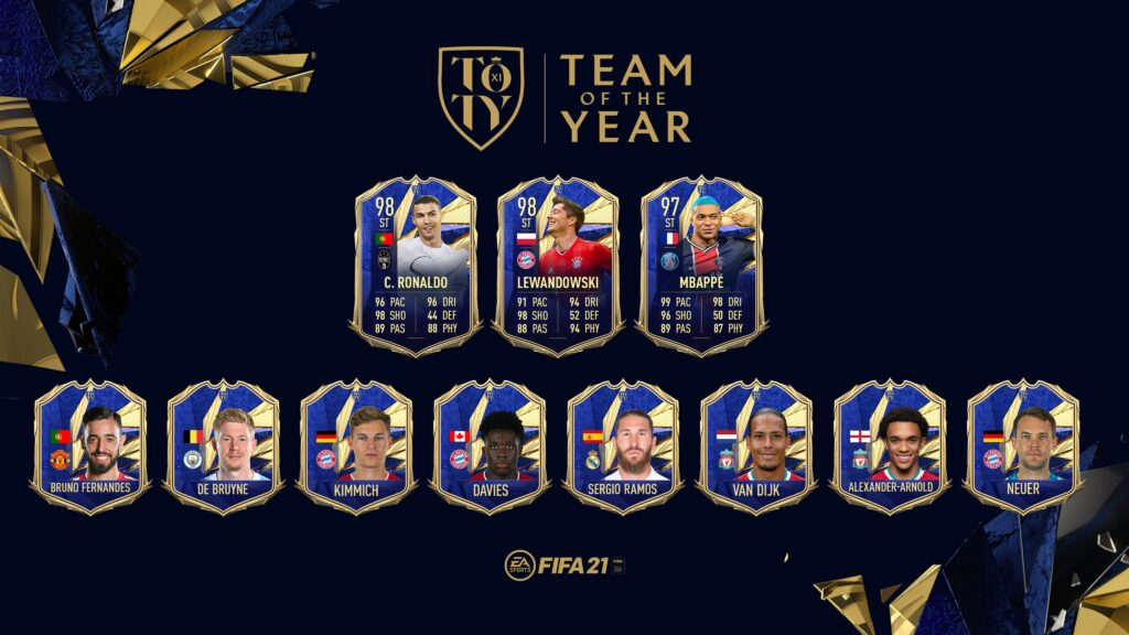 FIFA 21 Ultimate Team - TOTY - Team of the Year FUT - Attaccanti