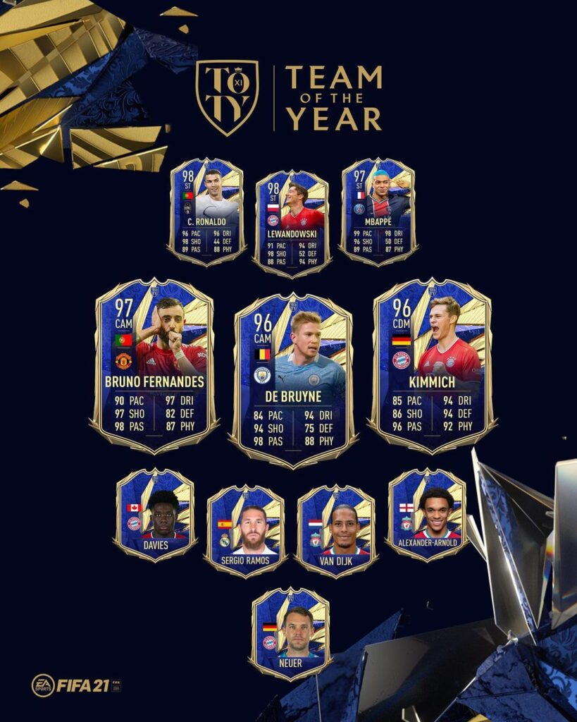FIFA 21 Ultimate Team - TOTY - Team of the Year FUT - Centrocampisti