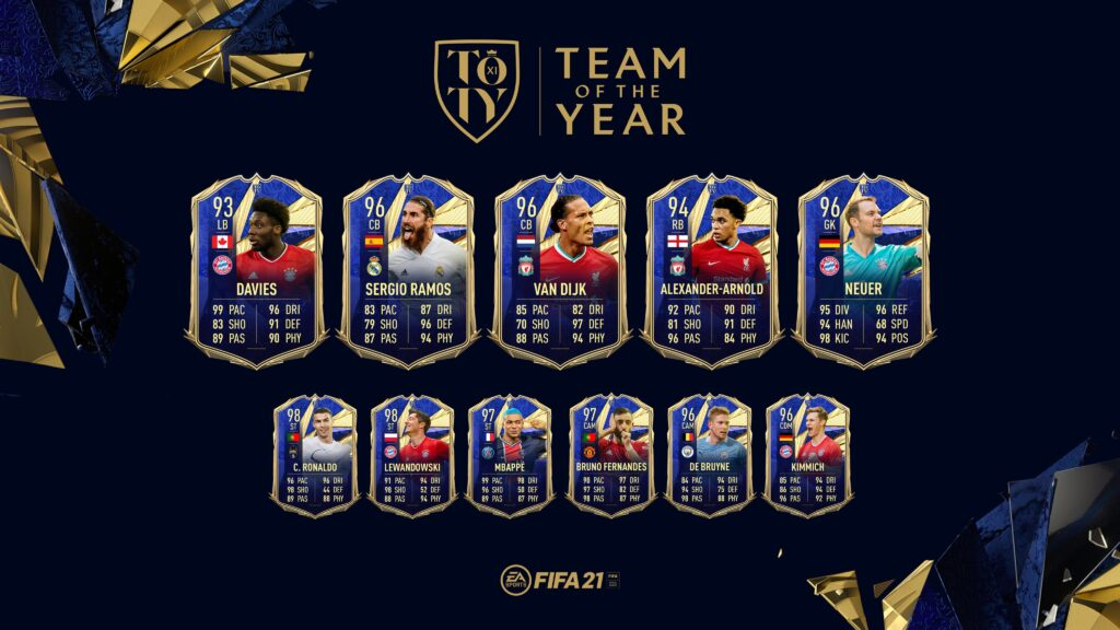 FIFA 21 Ultimate Team - TOTY - Team of the Year FUT - Difensori