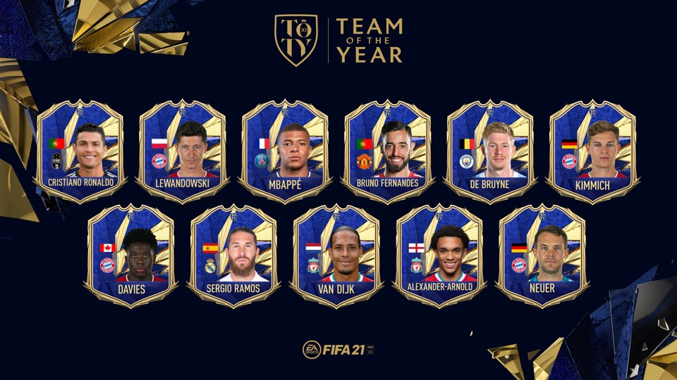 FIFA 21 Ultimate Team - TOTY - Team of the Year FUT